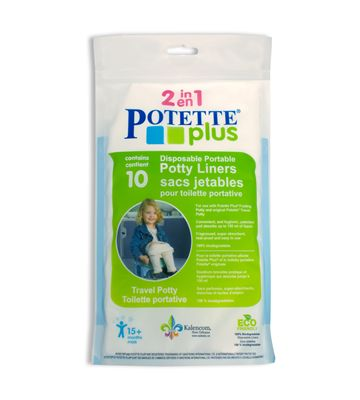 10 Disposable Potette Plus Portable Potty Liners