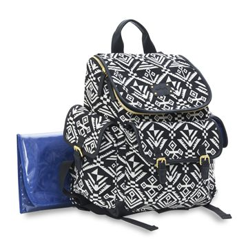 Baby Aztec Jacquard Backpack Diaper Bag