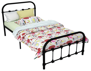 Madison Metal Twin Bed