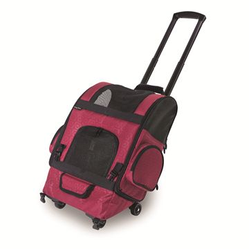 RC1000 Roller-Carrier™ Pet Carrier - Red Geometric