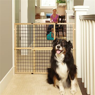 Extra-Wide Wire Mesh Pet Gate