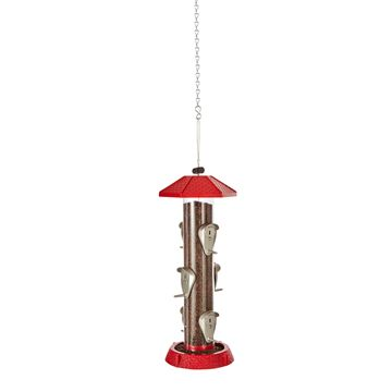 2 in 1 Hingedport Birdfeeder 6 Perch