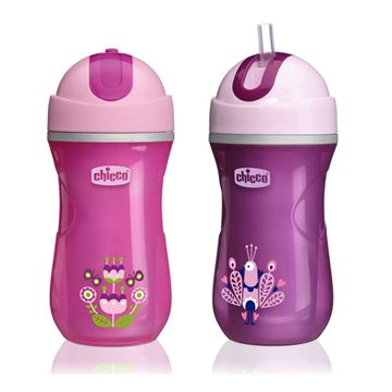 NaturalFit® 2pk Insulated Straw Cup 9oz Girl 12M+