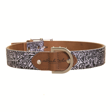 "Leather Dog Collar - Medium 13.5"" to 18"""