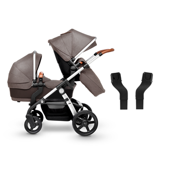 Wave Stroller + Adaptors Bundle SILVER